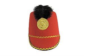 Chapéu Paquita Vermelho Penas