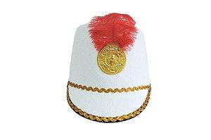 Chapéu Paquita Branco Penas