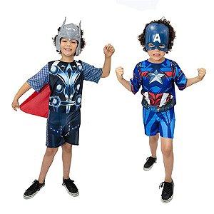 Fantasia Thor e Capitão América Vingadores Avengers