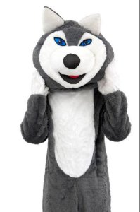 Fantasia Mascote Cachorro Husky