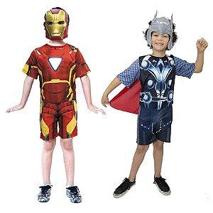 Fantasia Homem de Ferro e Thor Vingadores Avengers