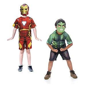 Fantasia Homem de Ferro e Hulk Vingadores Avengens