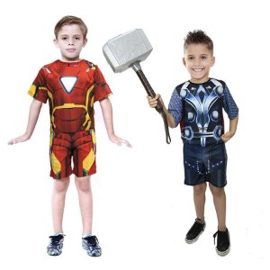 Fantasia Thor C/ Martelo Homem De Ferro Meninos Infantil