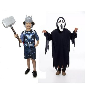 Fantasia Thor Infantil C/ Martelo E Panico Halloween