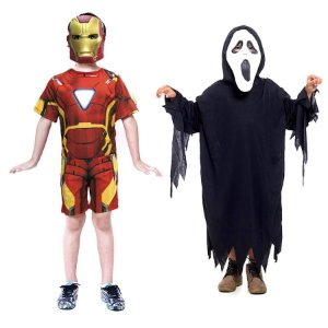 Fantasia Homem De Ferro E Panico Halloween Infanti