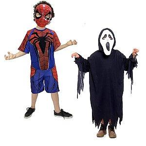 Fantasia Homem Aranha E Panico Halloween Infantil