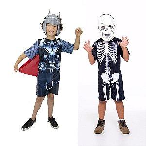 Fantasia Thor Vingadores Infantil E Esqueleto Halloween