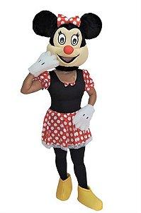 Fantasia Mascote Ratinha Com Mão Adulto Pelúcia