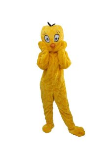 Mascote Passarinho Pelucia Amarelo