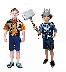 Fantasia Thor Martelo Mascara E Xerife Woody Toy Story
