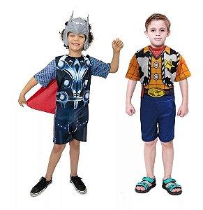 Fantasia Thor Vingadores C/ Mascara Xerife Woody Toy Story