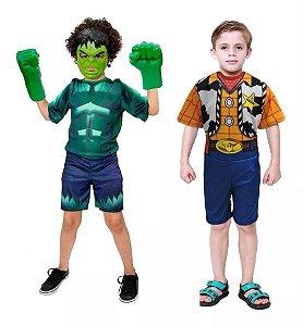 Fantasia Hulk Mascara E Luva Xerife Woody Toy Story