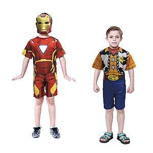 Fantasia Homem De Ferro Mascara E Xerife Woody Toy Story