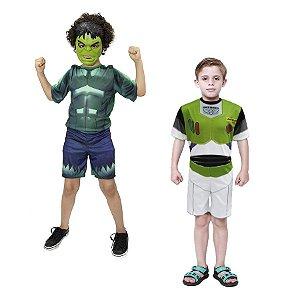 Fantasia Hulk Avengers C/ Mascara E Buzz Lightyer Infantil