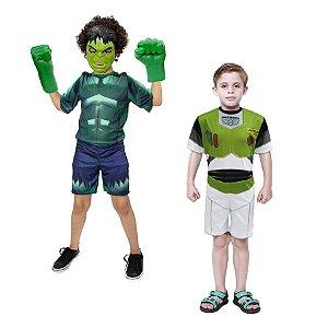 Fantasia Hulk C/ Mascara E Luva Buzz Lightyer Infantil