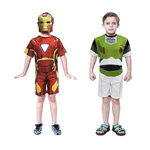 Fantasia Homem De Ferro Com Mascara E Buzz Lightyer Infantil