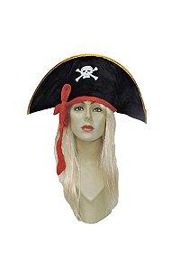 Chapéu Pirata  Aveludado