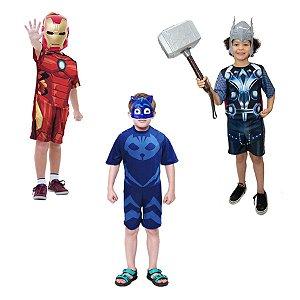 Fantasia Thor Com Martelo Homem De Ferro E Menino Gato