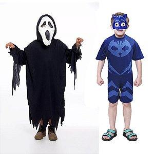 Fantasia Panico E Menino Gato Pj Masks 2 Mascaras Infantil