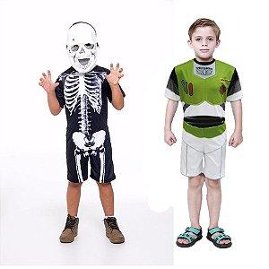 Fantasia Caveira Esqueleto E Buzz Lightyear Toy Story