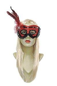 Mascara Teia de Aranha com Plumas