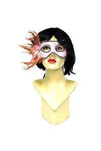 Mascara com Plumas e Strass