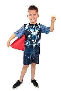 Fantasia Thor Sem Mascara Infantil Super Heróis