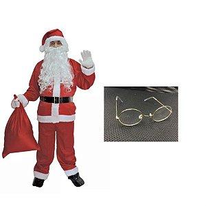 Fantasia Papai Noel Adulto - Kit 10 peças