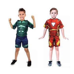 Fantasias Hulk e Homem de Ferro infantil