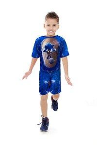 Fantasia Sonic Meninos Infantil