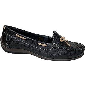 Sapato Feminino Bottero Mocassim Couro - 306101-35 - Preto