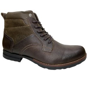 Coturno Masculino Freeway Couro - Captain - 3243 - Chocolate