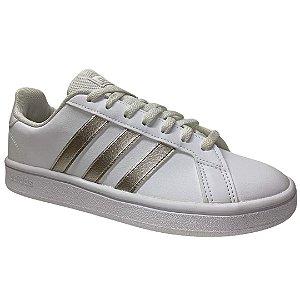 Tênis Adidas Feminino Grand Court Base W - Branco - EE7874