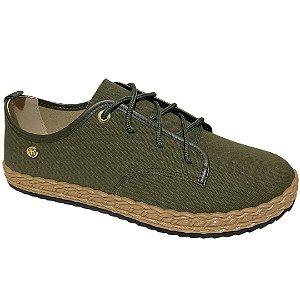 Tênis Feminino Moleca Casual 5696.105 - Verde Militar
