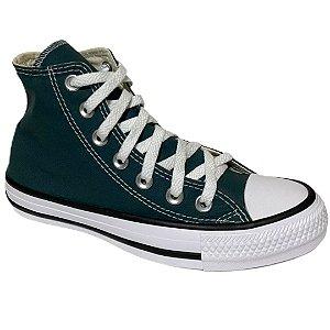 Tênis Unissex Converse Cano Alto Chuck Taylor All Star - CT04190040 - Verde Escuro-Preto-Branco