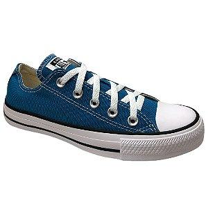 Tênis Unissex Converse Cano Baixo Chuck Taylor All Star - CT04200036 - Azul Acido-Preto-Branco