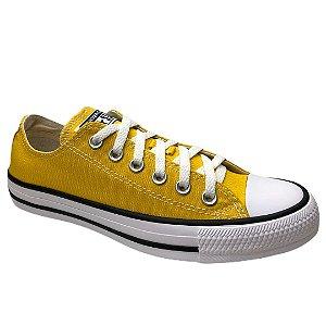 Tênis Unissex Converse Cano Baixo Chuck Taylor All Star - CT04200034 - Amarelo Vivo-Preto-Branco