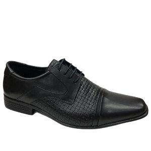 Sapato Masculino Venetto Couro - 0288A - Vegetali Preto