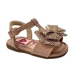 Sandália Infantil Menina Molekinha Verniz Premium - 2112.560 - Rosa