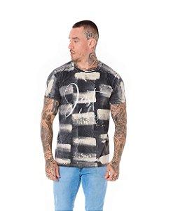 Camiseta Algodão Slim Lavanderia Just Believe Preto