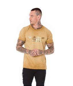 Camiseta Algodão Slim A Seco Foil Clothing Company Ocre