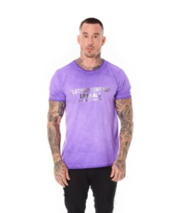 Camiseta Algodão Slim A Seco Foil Clothing Company Roxo