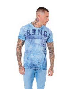 Camiseta Algodão Slim Strength Azul