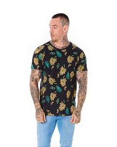 Camiseta Algodão Slim Banana Preto
