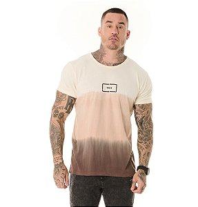 Camiseta Algodão Slim Tie Dye Imersão True Marrom