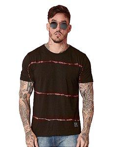 Camiseta Algodão Slim Com Reativo Spray Neon