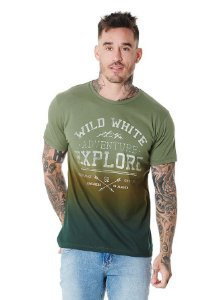 Camiseta Algodão Slim Adventure Explore Degradê