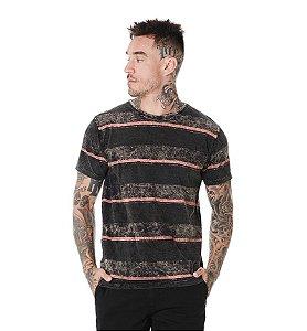 Camiseta Algodão Slim Sky Listras