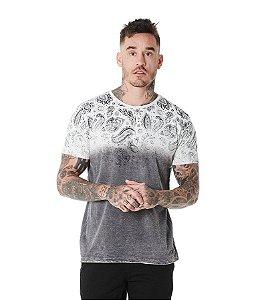 Camiseta Algodão Slim Paisley Sky Inferior