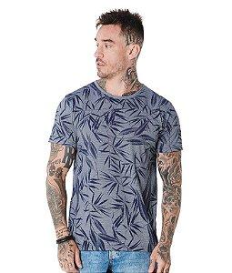 Camiseta Algodão Slim Folhas Bambu PA 1x1